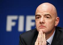 Presidente da Fifa Infantino concende entrevista em Zurique.  18/3/2016. REUTERS/Ruben Sprich