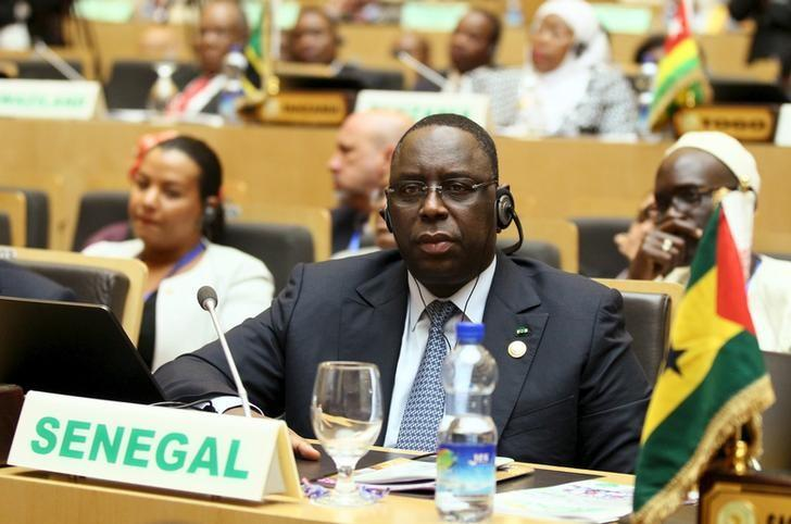 Senegal's President Macky Sall attends the opening ceremony of the 26th Ordinary Session of the Assembly of the African Union (AU) at the AU headquarters in Ethiopia's capital Addis Ababa, January 30, 2016. REUTERS/Tiksa Negeri