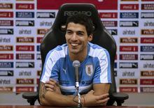 Suárez concede entrevista em Montevidéu. 22/3/16.  REUTERS/Andres Stapff