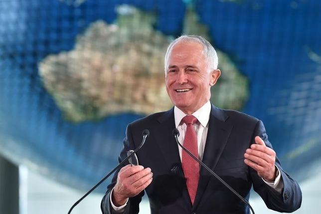 3月23日、オーストラリアのターンブル首相は、総額10億豪ドル(7億6160万ドル)に上る再生可能エネルギー・イノベーション基金を設立すると発表した。写真は都内で昨年12月撮影 代表撮影(2016年 ロイター)