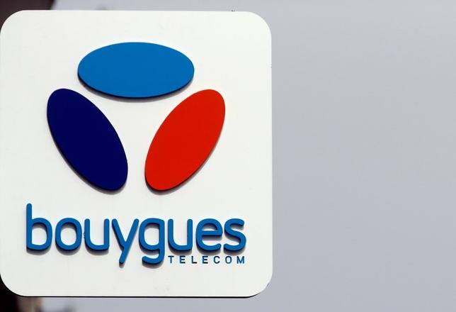 The Bouygues Telecom company logo is seen on a shop in Marseille, France, March 31, 2016. REUTERS/Jean-Paul Pelissier