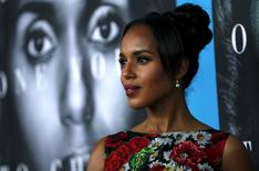 """Cast member Kerry Washington poses at the premiere for the television movie """"Confirmation"""" in Los Angeles, California March 31, 2016. REUTERS/Mario Anzuoni"""
