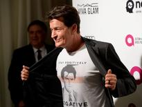 Actor Charlie Sheen arrives at the Elton John AIDS Foundation Academy Awards Viewing Party in West Hollywood, California February 28, 2016. REUTERS/Gus Ruelas