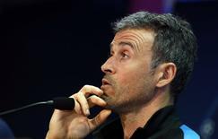 Técnico do Barcelona, Luis Enrique.    04/04/2016     REUTERS/Albert Gea