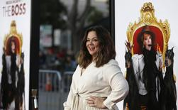 """Cast member Melissa McCarthy poses at the premiere of """"The Boss"""" in Los Angeles, California March 28, 2016. REUTERS/Mario Anzuoni"""