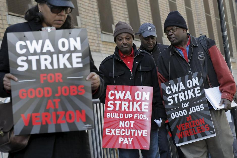 About 40,000 unionized Verizon workers walk off the job - Reuters