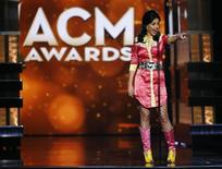 Katy Perry takes the stage to present the Tex Ritter Award during the 51st Academy of Country Music Awards in Las Vegas, Nevada April 3, 2016.  REUTERS/Mario Anzuoni