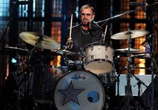 Ringo Starr performs during the 2015 Rock and Roll Hall of Fame Induction Ceremony in Cleveland, Ohio April 18, 2015. REUTERS/Aaron Josefczyk