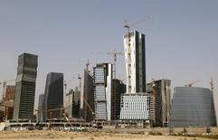 A view shows the construction of the King Abdullah Financial District, north of Riyadh, Saudi Arabia April 11, 2016.    REUTERS/Faisal Al Nasser