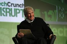 Bill Campbell, chairman of the board and former chief executive of Intuit Inc., smiles as he moderates a fireside chat with Ben Horowitz of Andreessen Horowitz during day one of TechCrunch Disrupt SF 2012 event at the San Francisco Design Center Concourse in San Francisco, California September 10, 2012. REUTERS/Stephen Lam