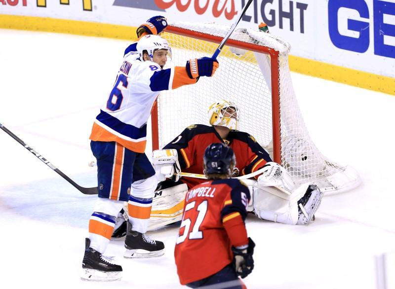 Isles Close In On Series Win Beat Panthers In Double Ot Reuters