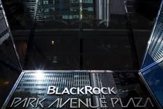 The BlackRock sign is pictured in the Manhattan borough of New York, in this October 11, 2015 file photo. REUTERS/Eduardo Munoz