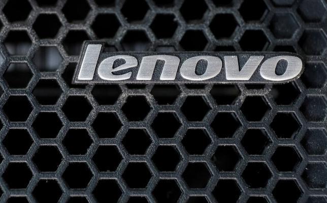 A Lenovo logo is seen at the computer in Kiev, Ukraine April 21, 2016. REUTERS/Gleb Garanich