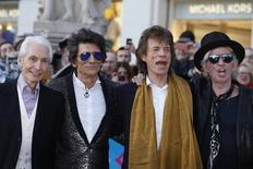 Integrantes dos Rolling Stones chegam para evento em Londres.  4/4/2016. REUTERS/Luke MacGregor