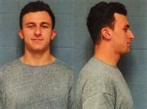 Former Cleveland Browns quarterback Johnny Manziel is shown in this combination police booking photos in Dallas County, Texas, United States on May 4, 2016.      Courtesy Highland Park Texas Department of Public Safety/Handout via REUTERS