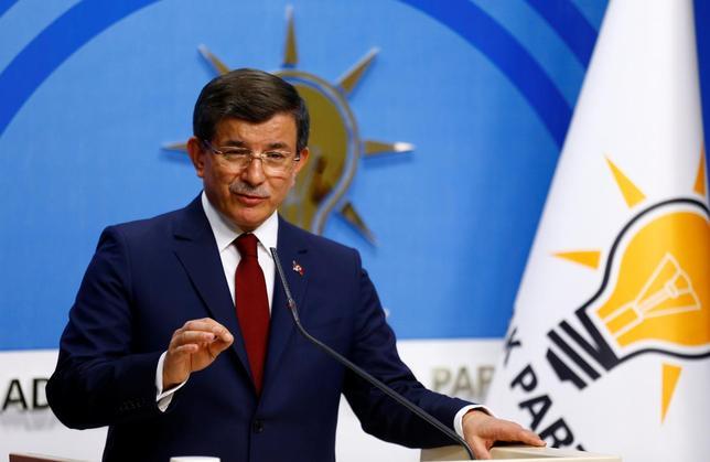 Turkey's Davutoglu calls on ruling AK celebration to remain united