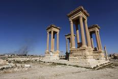 Monumentos vistos na cidade histórica de Palmira, na Síria.    06/04/2016       REUTERS/Omar Sanadiki