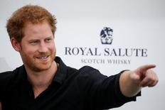 Britain's Prince Harry arrives for the Sentebale Royal Salute Polo Cup in Wellington, Florida, U.S., May 4, 2016.  REUTERS/Carlo Allegri