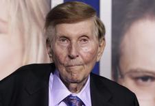 """Sumner Redstone, executive chairman of CBS Corp. and Viacom, arrives at the premiere of """"The Guilt Trip"""" starring Barbra Streisand and Seth Rogen in Los Angeles December 11, 2012.  REUTERS/Fred Prouser/File Photo"""