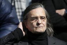 French actor Jean-Pierre Leaud leaves after the funeral ceremony of late film director Alain Resnais at the Saint-Vincent-de-Paul church in Paris, France, March 10, 2014. REUTERS/Charles Platiau