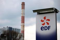 EDF, qui a publié un chiffre d'affaires en repli de 6,7% au titre du premier trimestre 2016, à suivre mercredi à la Bourse de Paris. /Photo prise le 21 avril 2016/REUTERS/Stéphane Mahé