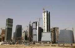 A view shows the construction of the King Abdullah Financial District, north of Riyadh, Saudi Arabia April 11, 2016. REUTERS/Faisal Al Nasser/File Photo