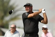 Golf - Abu Dhabi HSBC Golf Championship - Abu Dhabi Golf Club, United Arab Emirates - 22/1/16 Northen Ireland's Darren Clarke in action during the second round Action Images via Reuters / Paul Childs   - RTX241WY