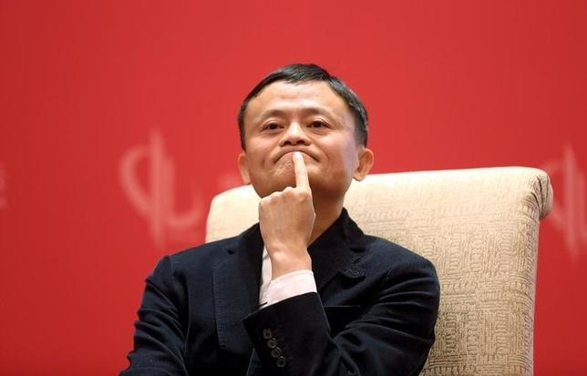 Founder and Executive Chairman of Alibaba Group Jack Ma meets Facebook founder and CEO Mark Zuckerberg (not pictured), at the China Development Forum in Beijing, China, March 19, 2016. REUTERS/Shu Zhang