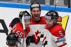 Ice Hockey - 2016 IIHF World Championship - Quarter-final - Canada v Sweden - St. Petersburg, Russia - 19/5/16 - Players of Canada celebrate a goal. REUTERS/Maxim Zmeyev