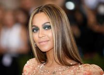 "Singer-Songwriter Beyonce Knowles arrives at the Metropolitan Museum of Art Costume Institute Gala (Met Gala) to celebrate the opening of ""Manus x Machina: Fashion in an Age of Technology"" in the Manhattan borough of New York, May 2, 2016. REUTERS/Eduardo Munoz"