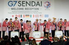 A l'occasion de la réunion ministérielle du G7 à Sendai, le Japon et les Etats-Unis n'ont pu que constater une nouvelle fois leurs divergences en matière de changes vendredi, Washington laissant entendre que rien dans l'évolution actuelle du yen ne justifiait une intervention de Tokyo pour freiner l'appréciation de sa devise. /Photo prise le 19 mai 2016/REUTERS/Kyodo