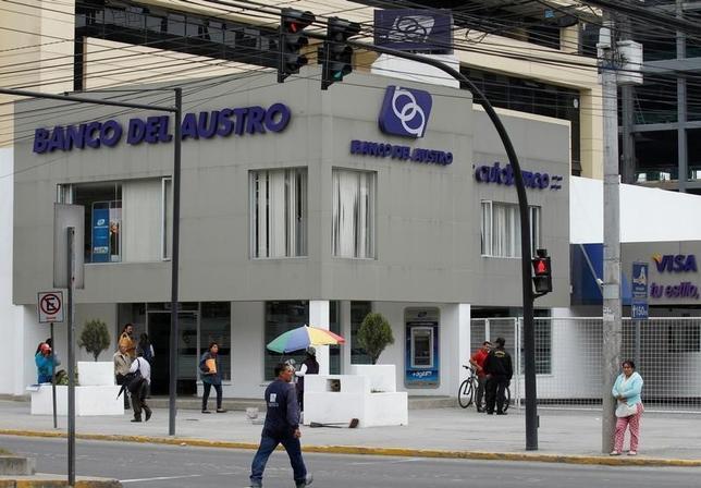 A branch of the Banco del Austro is seen in Quito, Ecuador, May 17, 2016.  REUTERS/Guillermo Granja