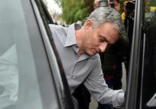Former Chelsea manager Jose Mourinho leaves his house in London, May 25, 2016. REUTERS/Toby Melville
