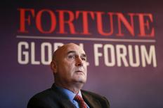 Hugh Grant, Chairman and CEO of Monsanto, participates in a panel discussion at the 2015 Fortune Global Forum in San Francisco, California November 3, 2015. REUTERS/Elijah Nouvelage/File Photo