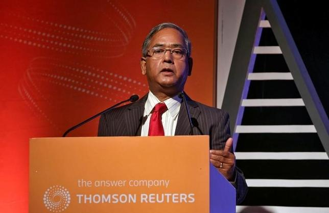 Securities and Exchange Board of India (SEBI) Chairman U.K. Sinha speaks during Thomson Reuters Risk Summit in Mumbai, India, May 5, 2016. REUTERS/Shailesh Andrade