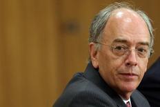 Pedro Parente, presidente da Petrobras, em coletiva de imprensa 19/05/2016  REUTERS/Adriano Machado