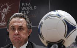 Ministro dos Esportes da Rússia, Vitaly Mutko, durante entrevista coletiva em Moscou.     30/09/2012       REUTERS/Maxim Shemetov