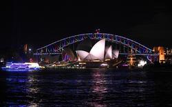 The Sydney Harbour Bridge is lit in rainbow colors in Sydney, Australia, June 13, 2016. AAP/Sam Mooy/via REUTERS