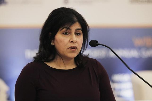 Member of House of Lords in Britain, Baroness Sayeeda Warsi speaks during the World Islamic Banking Conference in Manama, December 2, 2014. REUTERS/Hamad I Mohammed