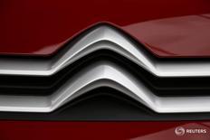 PSA confirme qu'un crossover Citröen sera fabriqué à son usine de Rennes, qui représentera un investissement de 100 millions d'euros d'ici 2018. /Photo prise le 29 mars 2016/REUTERS/Eric Gaillard