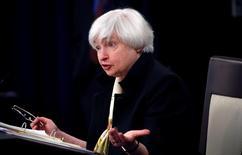 Chair do banco central dos Estados Unidos, Janet Yellen, durante encontro em Washington.     15/06/2016        REUTERS/Kevin Lamarque