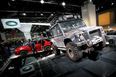 The Land Rover Defender is presented during the media day at the Frankfurt Motor Show (IAA) in Frankfurt, Germany September 16, 2015.  REUTERS/Kai Pfaffenbach/File photo