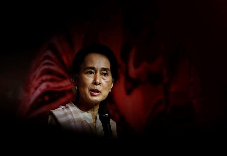 26. Myanmar's State Counselor Aung San Suu Kyi. REUTERS/Edgar Su