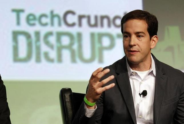 Okta's Todd McKinnon speaks during a question and answer session at the Tech Crunch Disrupt conference in San Francisco, California, September 11, 2012.   REUTERS/Beck Diefenbach