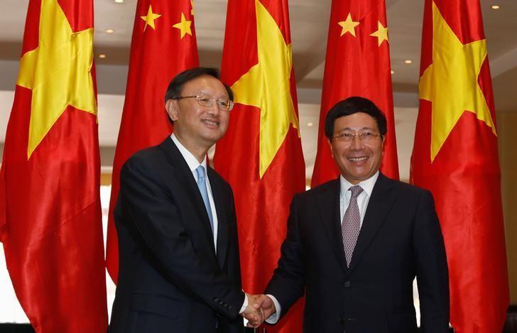 Top Chinese envoy visits Vietnam as South China Sea tension rises