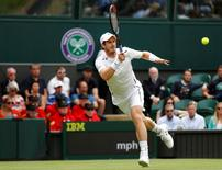 Britain Tennis - Wimbledon - All England Lawn Tennis & Croquet Club, Wimbledon, England - 28/6/16 Great Britain's Andy Murray in action against Great Britain's Liam Broady REUTERS/Stefan Wermuth