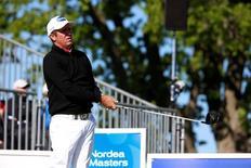 Golfista australiano Scott Hend durante torneio na Suécia.    04/06/2016        TT News Agency/Fredrik Persson/via REUTERS
