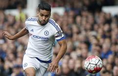 Atacante Falcao García durante partida do Chelsea na Inglaterra.   12/09/2015 Reuters / Andrew Yates Livepic/Files