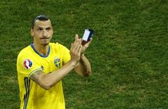 Football Soccer - Sweden v Belgium - EURO 2016 - Group E - Allianz Riviera - Nice, France - 22/6/16 Sweden's Zlatan Ibrahimovic after the match. REUTERS/Eddie Keogh/File Photo