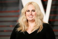 Actress Rebel Wilson arrives at the Vanity Fair Oscar Party in Beverly Hills, California February 28, 2016.  REUTERS/Danny Moloshok/File Photo